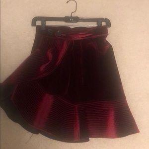 Self Portrait velvet skirt size 2